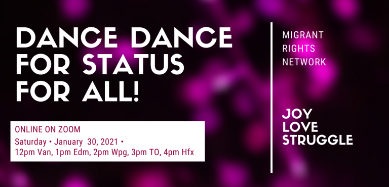 Online Dance Party for Status for All